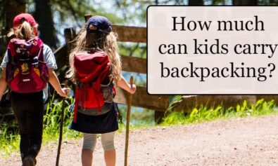 how much weight can kids carry backpacking and hiking