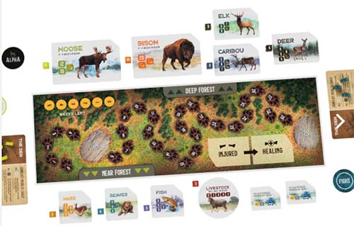 The Alpha board game for camping