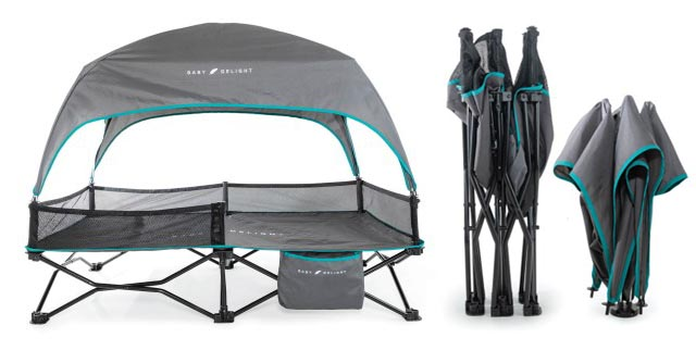 baby delight portable camping bed for toddlers