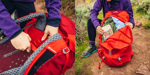 Features on Gregory Wander youth backpack
