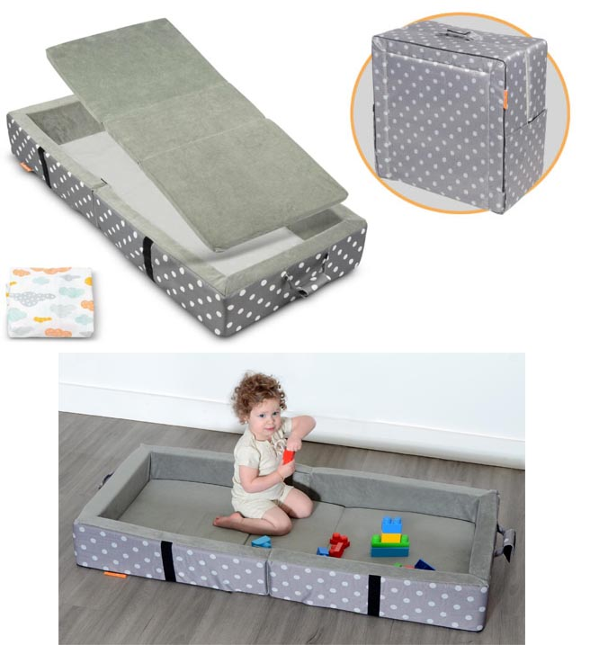 Milliard foam toddler camping bed with rails