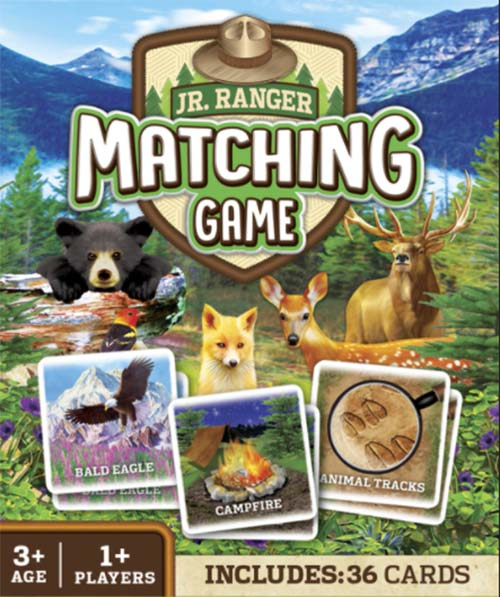 National Parks matching memory game