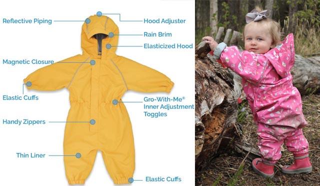 Jan & Jul waterproof baby rain suit