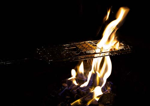 smores on grill rack