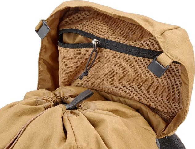 drawstring top on hiking pack