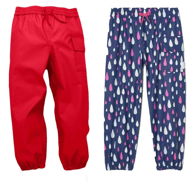 hatley kids waterproof splash pants