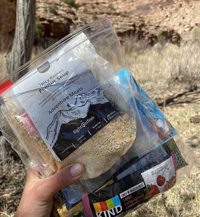 RightOnTrek backpacking meals