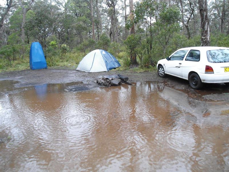 hate camping in rain